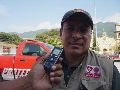 Resultado de imagen para El Coordinador regional de Protección Civil Luis Palma Déctor